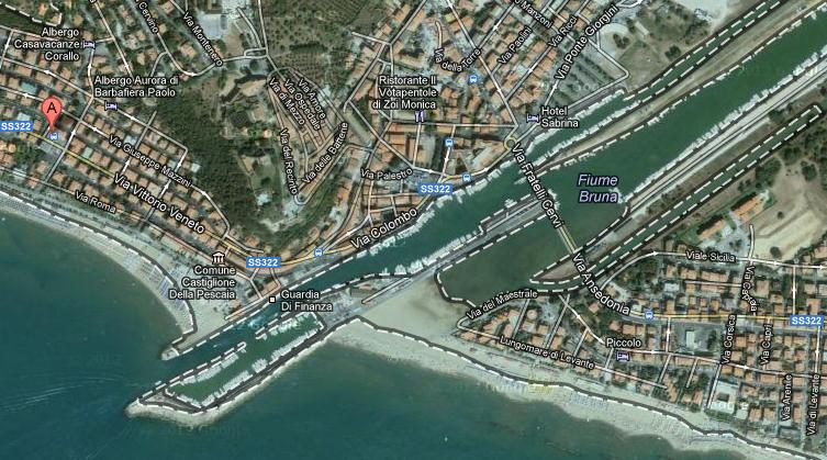 Photos from the satellite of the port of Castiglione della Pescaia