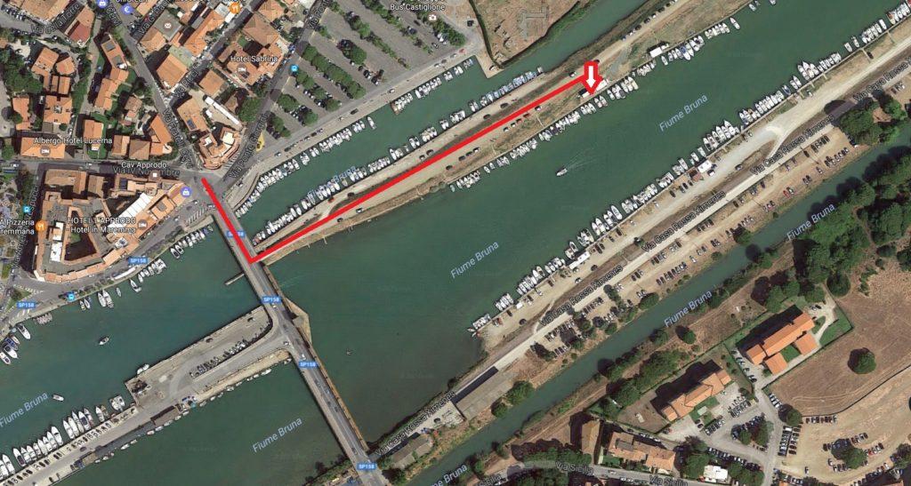 Dove sono i Posti barca e ormeggio Salebrone Castiglione della Pescaia - Grosseto