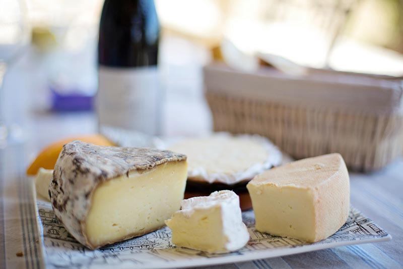 Foto di composizione di formaggio morbido e pecorino della maremma